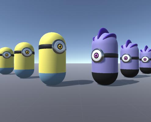 Unity prototype minions